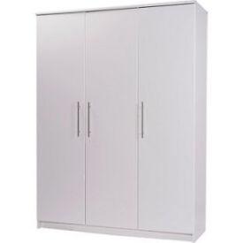 Normandy 3 Door Large Wardrobe - White