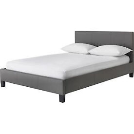 Hygena Constance Small Double Bed Frame - Latte