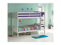 Detachable Single Bunk Bed Frame - White
