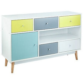 Hygena Lumina 1 Door 5 Drawer Sideboard