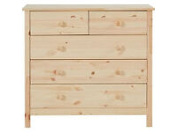 Kids Scandinavia 3+2 Drawer Chest - Pine
