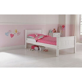Cody Single Bed Frame - White.