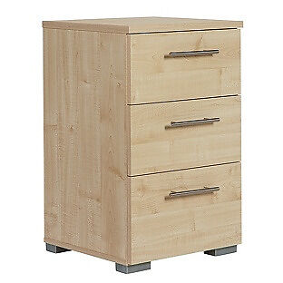 Malvern 3 Drawer Bedside Chest - Golden Maple Effect