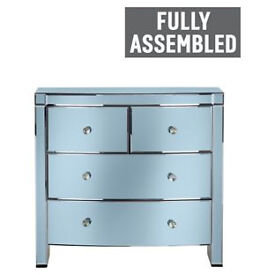 Heart of House Canzano 4 Drawer Mirrored Chest - Twilight.