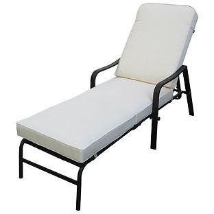 Barcelona Cushioned Garden Lounger.