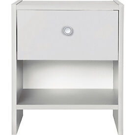 Seville 1 Drawer Bedside Chest - White