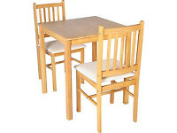 Kendall Square Dining Table and 2 Cream Chairs