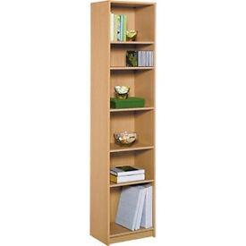 Maine Half Width Tall Extra Deep Bookcase - Beech Effect