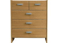 New Capella 3+2 Drawer Chest - Oak Effect