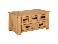 Penton Storage 5 Drawer Coffee Table - Pine