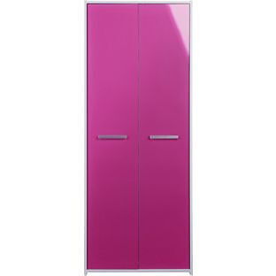 New Sywell 2 Door Wardrobe - White and Pink Gloss