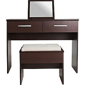 Collection New Hallingford Dressing Table,Stool,Mirror-Wenge