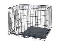 medium dog cage 2 doors all folds down flat in very good condition