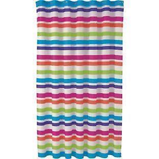 Multi Coloured Striped Curtains Ebay