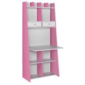 Pink and white Auckland desk unit