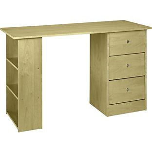 New Malibu 3 Drawer Desk - Maple Effect