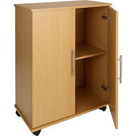 Storage Cupboard - Beech Effect