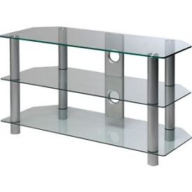 3 Tier clear glass tv stand £25 ono