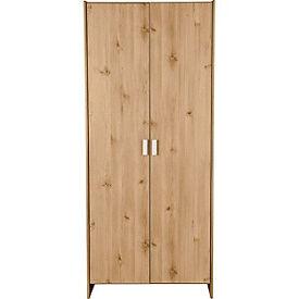 New Capella 2 Door Wardrobe - Pine effect