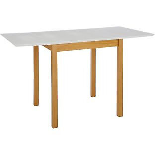 Folding White Extendable Dining Table