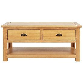 Kent Coffee Table - Solid Oak & Oak Veneer
