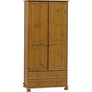 Richmond 2 Door 2 Drawer Wardrobe - Antique Pine