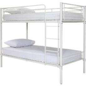 Samuel Single Bunk Bed Frame - White