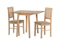 Kendall Drop Leaf Extendable Dining Table and 2 Chairs