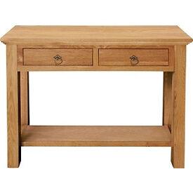 Knightsbridge 2 Drawer Console Table - Oak