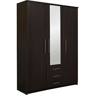 "Normandy 3 Door 3 Drawer Large Mirrored WardrobeWengein Aston, West MidlandsGumtree - call or message if interested. Item is brand new in box. ""Size H200, W150, D50cm. 96kg. 3 hanging rails. 2 shelves. 3 drawers with metal runners. Metal handles. Self assembly 2 people recommended. FSC certified wood."" can deliver any day for £15"