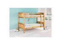 Detachable Single Bunk Bed Frame - Pine