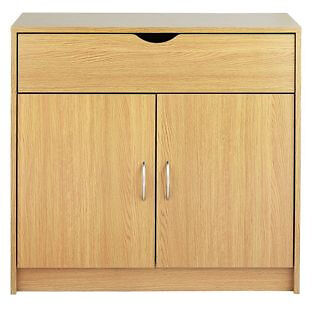 Great Value 2 Door 1 Drawer Sideboard - Oak Effect