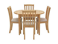Banbury Extendable Dining Table and 4 Natural Chairs