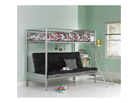 BedsChildren's beds Metal Bunk Bed Frame - Silver