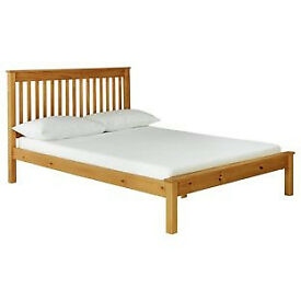 Aspley Double Bed Frame - Oak Stain