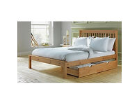 Aspley Small Double Bed Frame - Oak Stain