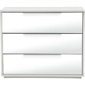Hygena Bergen 3 Drawer Chest - Mirror