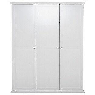 Canterbury 3 Door Wardrobe - White
