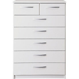 New Hallingford 5+2 Drawer Chest - White