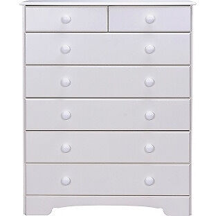 Nordic 5+2 Drawer Chest - White