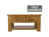 Arizona 2 Drawer Coffee Table - Solid Pine