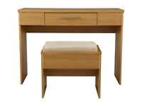 Normandy Dressing Table and Stool - Oak Effect