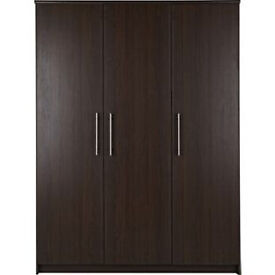 Normandy 3 Door Large Wardrobe - Wenge Effect