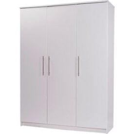 Normandy 3 Door Large Wardrobe - White