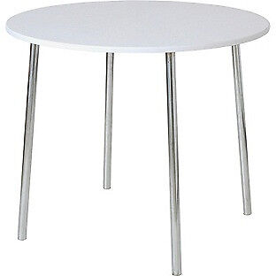 White Round Kitchen Dining Table