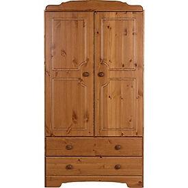Nordic 2 Door 2 Drawer Wardrobe - Pine