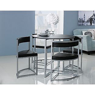 Hygena Milan Space Saver Table and 4 Chairs