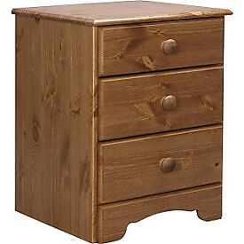 Nordic 3 Drawer Bedside Chest - Pine