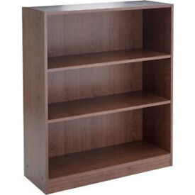 Maine Small Extra Deep Bookcase - Walnut Effect