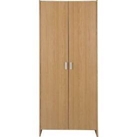 New Capella 2 Door Wardrobe - Oak Effect